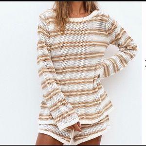Sabo Skirt Ivy Stripe Knit Sweater